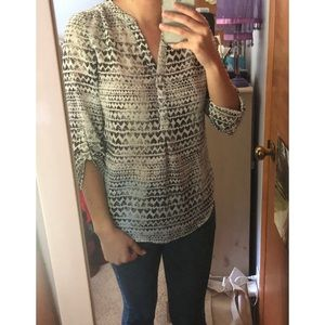 Maurices Black Heart Print Blouse